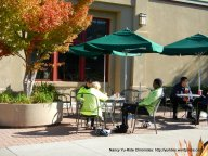 outdoor patio area-Starbuck's