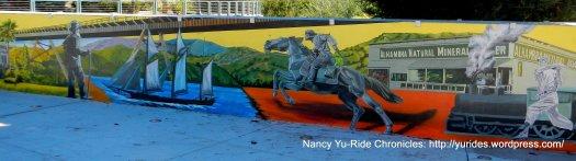 beautiful mural of Martinez's history