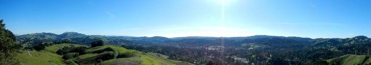 panoramic view from Mulholland Ridge