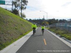 onto ped/bike path