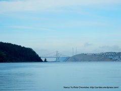 view of Carquinez Bridge from 1st St pier