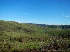views of gentle rolling hillsides