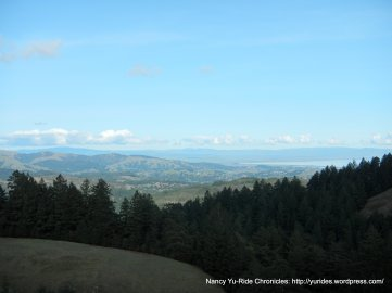 inland views from the ridge
