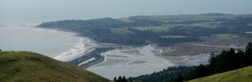 view of Bolinas, Bolinas Bay & Lagoon
