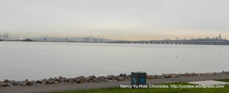 view of Bay Bridge & Port of Oakland