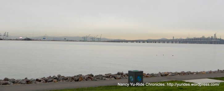 view of Bay Bridge & Port of Oakland