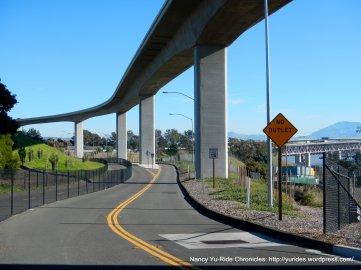 ped/bike path across Benicia Bridge