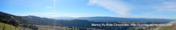 panoramic views of the Diablo range