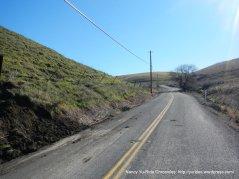climb up Collier Canyon Rd