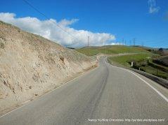 begin climb up Patterson Pass