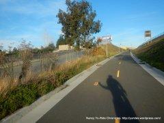 onto Ped/Bike path crossing