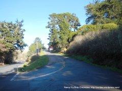 steep climb up west Marshall Petaluma Rd