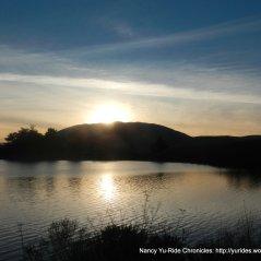 sunset over Nicasio Reservoir