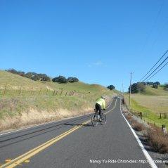 steep climb up west Pig Farm Hill