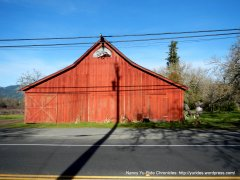 red barn-near Calistoga