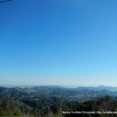 views of Marin County hills