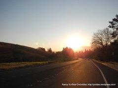 sunrise over Morello Ave