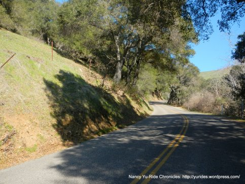 steeper section of climb
