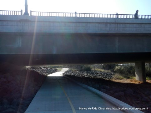 River Walk trail under 13th St bridge