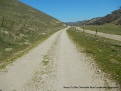 becomes compact gravel road