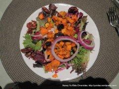 roasted squash salad w/pecans