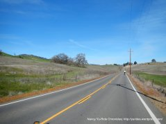 rolling climb up Pleasants Valley Rd