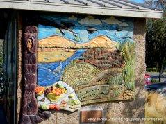 ceramic mural at the park