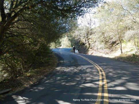 steep climb up Lomas Cantadas