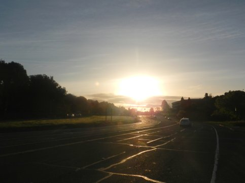 sunrise over Lucas valley Rd
