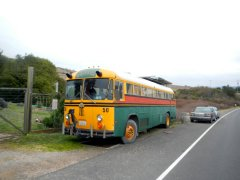 bus near Tomales Oyster Co