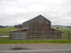 old weather beaten barn