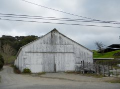 old white barn
