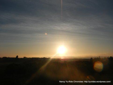sunrise over Suisun Bay