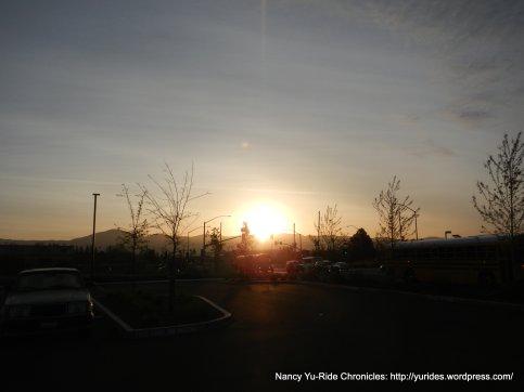 sunrise over Napa