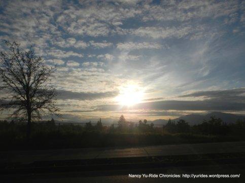 sunrise over Pleasant Hill