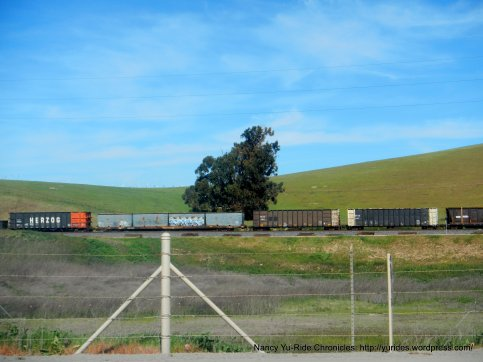 train rolling by
