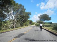 start of climb up Firestone Hill