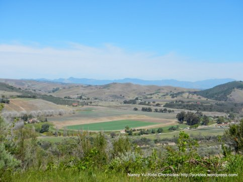 valley views of the agricultural fields