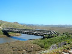 bridge over Pescadero Marsh