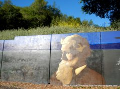John Muir mural on Alhambra Ave