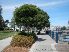 path along the Marina