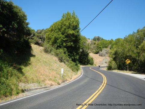 climb up Lucas Valley
