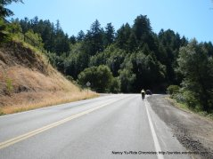 climb up Nicasio Valley Rd