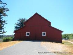 red barn at Bear Valley Visitors Center
