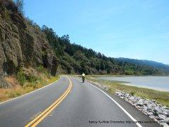 riding along Bolinas Lagoon