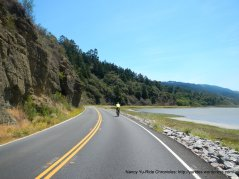riding along Bolinas Lagoon