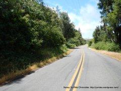 rolling terrain on Marshall Petaluma Rd