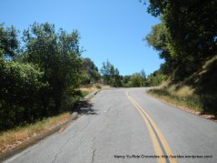 climb up Bolinas Fairfax Rd
