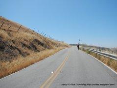 riding along the ridge