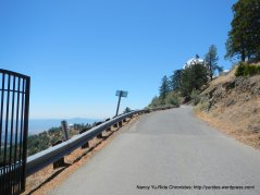 driveway up to Lick Observatory